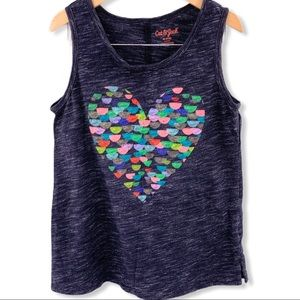Cat & Jack heart tank top medium 7/8